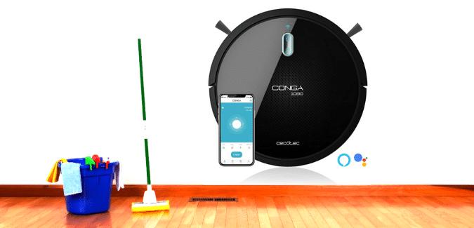 Robot aspirador y friegasuelos Conga